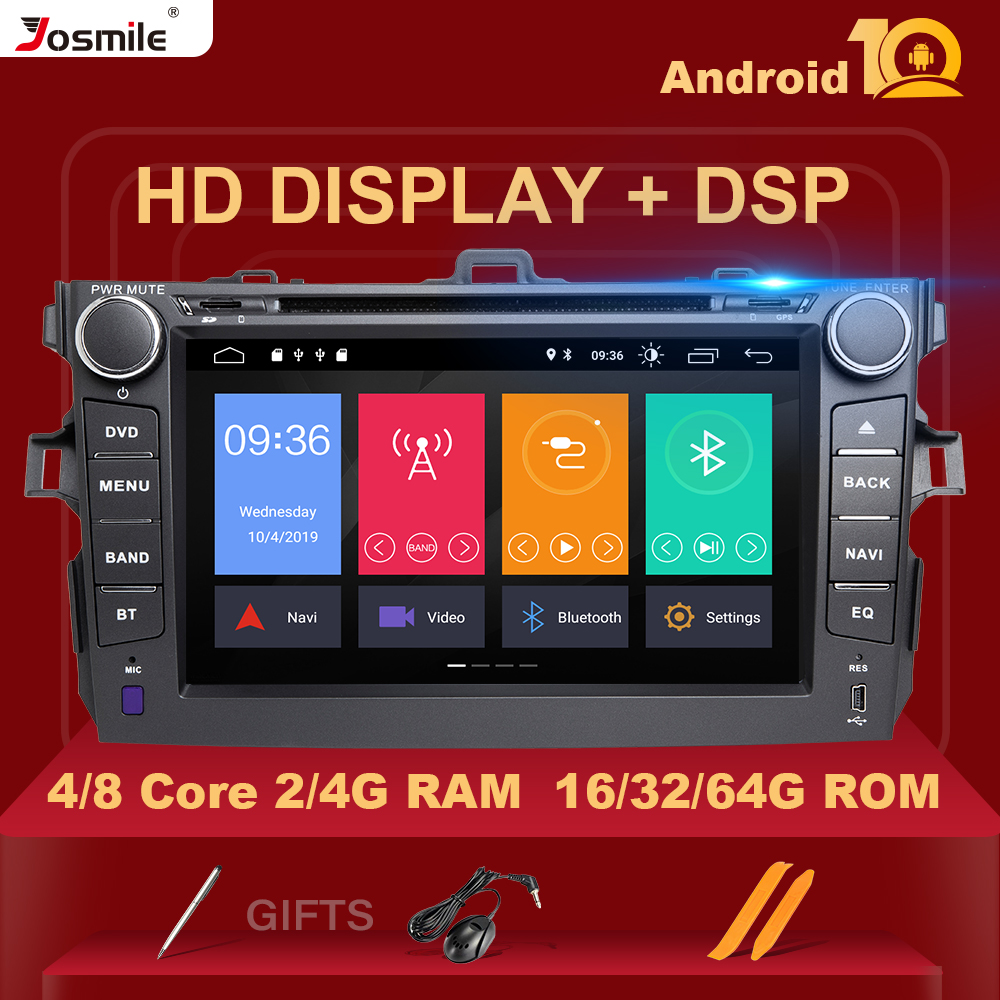 IPS DSP Android 10 Car Radio Multimedia Player For <font><b>Toyota</b></font> <font><b>Corolla</b></font> <font><b>E140/150</b></font> 2007 2008 2009 2010 20112012 GPS 4G Naviagtion Stereo image