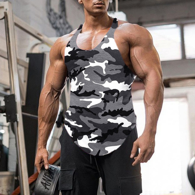 Gym Tank Top Men Fitness Clothing Mens Bodybuilding Tank Tops Summer Gym Clothing for Male Sleeveless Vest Shirts Plus Size 6