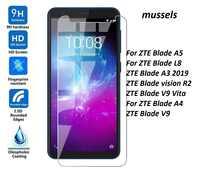 For ZTE Blade V9 Vita Tempered Glass Screen Protector For ZTE Blade A3 Protective Film ZTE Blade vision A5 A4 A 5 (2019) 5.45