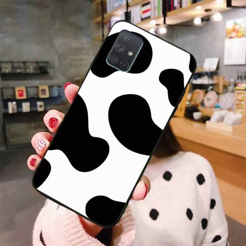 YJZFDYRM inek baskı siyah beyaz DIY lüks telefon kılıfı için Samsung Galaxy A01 A11 A31 A81 A10 A20 A30 A40 a50 A70 A80 A71 A91 A51