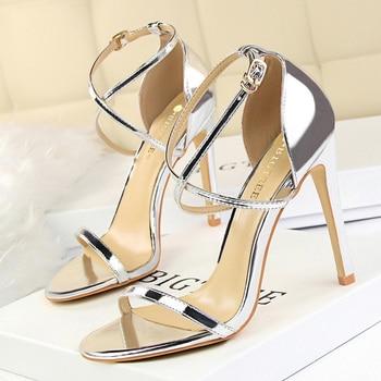 Buckle Strap High Heeled Sandals  2