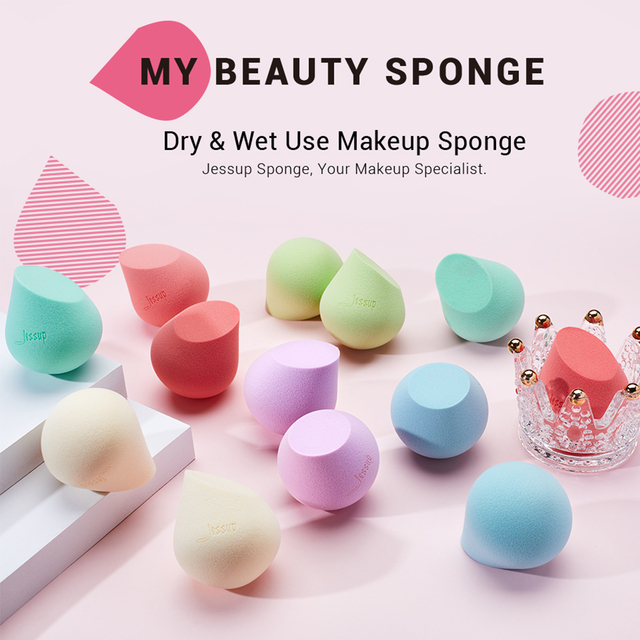 Jessup Makeup Sponge Professional Cosmetic Puff Soft Foundation Blending Cream Concealer Beauty Tools 5