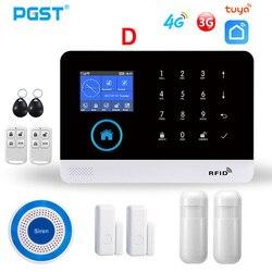Система сигнализации PGST PG103 4G 3G GSM для дома, беспроводная сирена на солнечной батарее, умный дом, управление через приложение