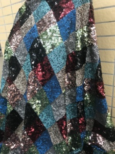 Image 4 - Moda payetler dantel kumaş SYJ 32282 parti elbise için güzel görünümlü işlemeli tül örgü kumaş