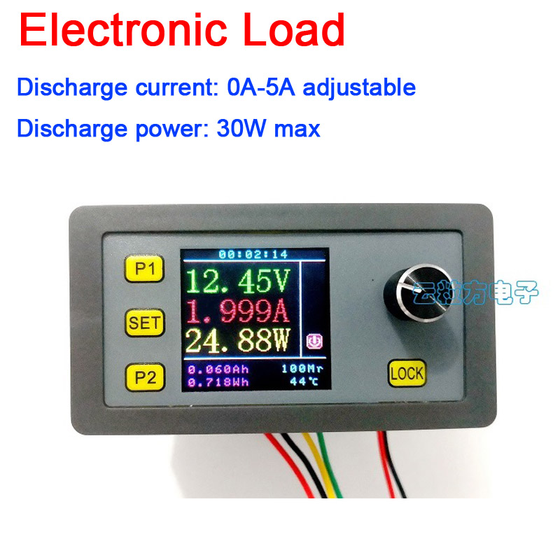 DYKB 5A Adjustable Constant Current Electronic Load 30W 12V 24V power aging Tester Battery Discharge Digital lcd Capacity meter|Battery Accessories| |  - title=