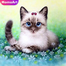 MomoArt Cat Diamond Painting Animal Mosaic Full Square Drill Picture Of Rhinestone Embroidery Handmade