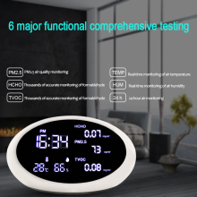 Air Quality Monitor PM2.5 Detector Gas Analyzer Air Analyzer HCHO TVOC Test Instrument Monitor Temperature Humidity Meter