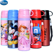 500ML Baby Thermos Bottles With Cup Insulated Water Cup Feeding Mug 2019 Winter Kid School Kettle Stainless Steel Thermal Cup(China)