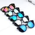 Детские солнцезащитные очки, цветные отражающие зеркальные солнцезащитные очки для детей, мальчиков и девочек, детские защитные очки Uv400, з...