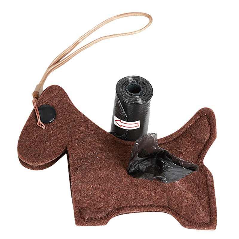 犬のクリーニング製品屋外ポータブル船尾バッグホルダー漫画犬のごみ袋ディスペンサー