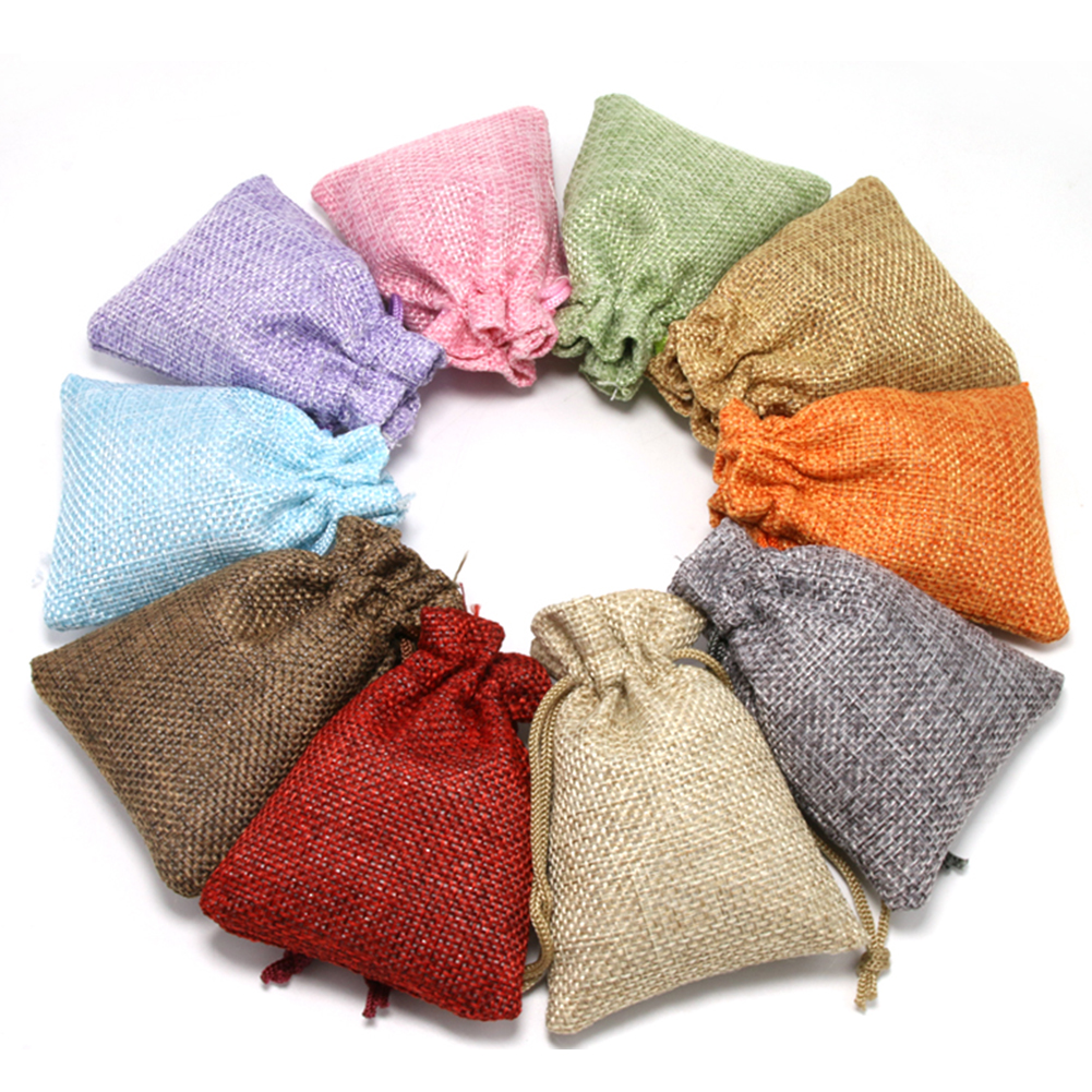 2019 Cotton Linen Storage Package Bag Drawstring Bag Small Coin Purse Travel Women Small Cloth Bag Christmas Gift Portable Pouch