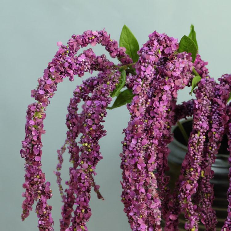 Flone 8 Branch Artificial Lover Fruit Green Amaranthus Artificial Flower Green Plant Wedding Home DIY Decoration Foam Flowers (7)