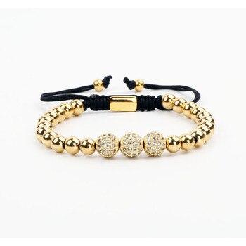 Fashion Women Men Bracelet CZ Micro Pave Ball Stainless Steel Macrame Friend Bracelet Men Jewelry Gift цена 2017