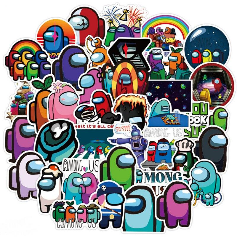 50 adet oyun arasında çıkartmalar karikatür Graffiti Sticker arabalar için motosikletler su bardakları çocuk oyuncakları çıkartmaları bagaj kaykay