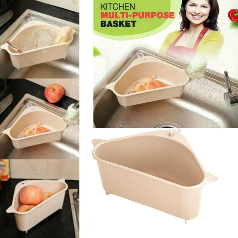 2020 Kitchen Multi-function Sink Drain Rack Cup Practical Storage Basket Bathroom Shelf Sink Corner Shelf Kitchen Organizer