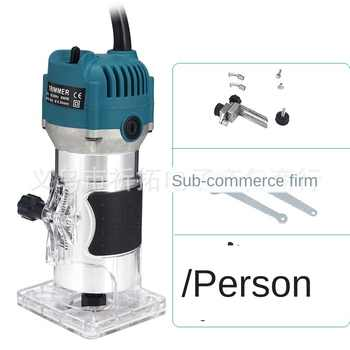 110V800WWoodworking Electric Edge Trimmer Wood Milling Groove Trimming Machine Manual Engraving Machine Wood Engraving Machine - DISCOUNT ITEM  70 OFF Tools