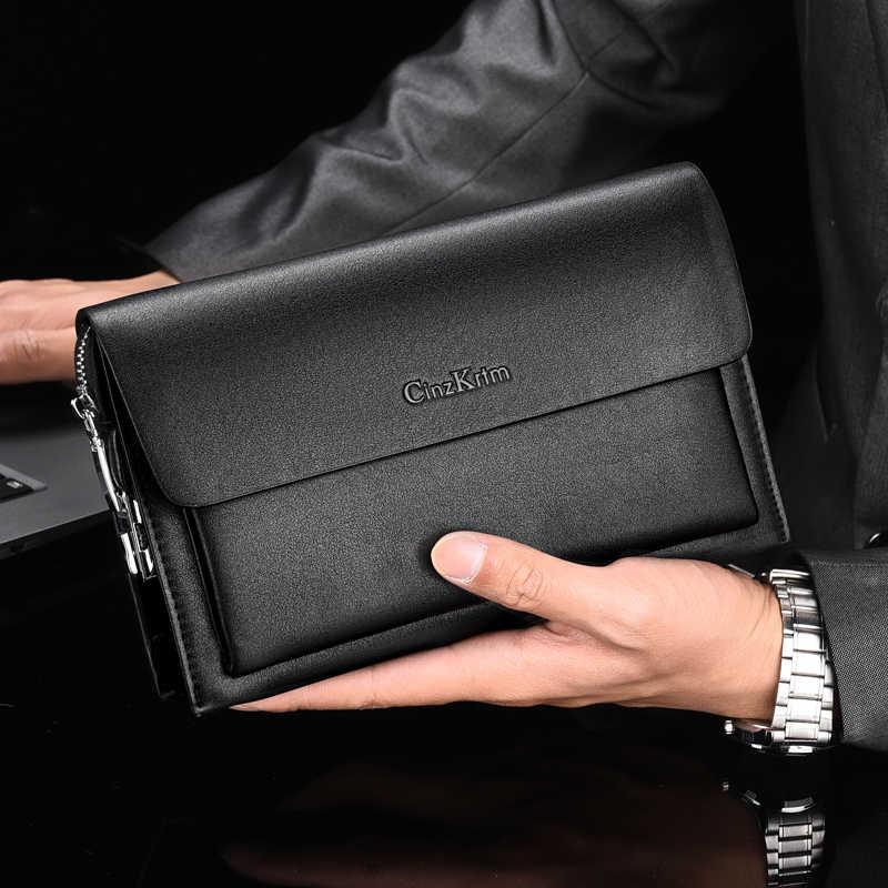 Pria Kode Kunci Hari Clutch Anti-Theft Bisnis Tas Tangan Pria Kapasitas Besar Panjang Dompet Ponsel Case Pemegang Kartu