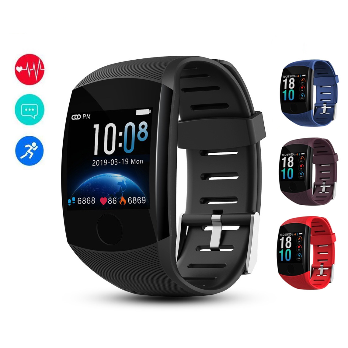 NEW Q11 Smart Watch Touch Screen IP67 Waterproof Fitness Bracelet OLED Message Heart Rate Smartband Activity Tracker sport watch
