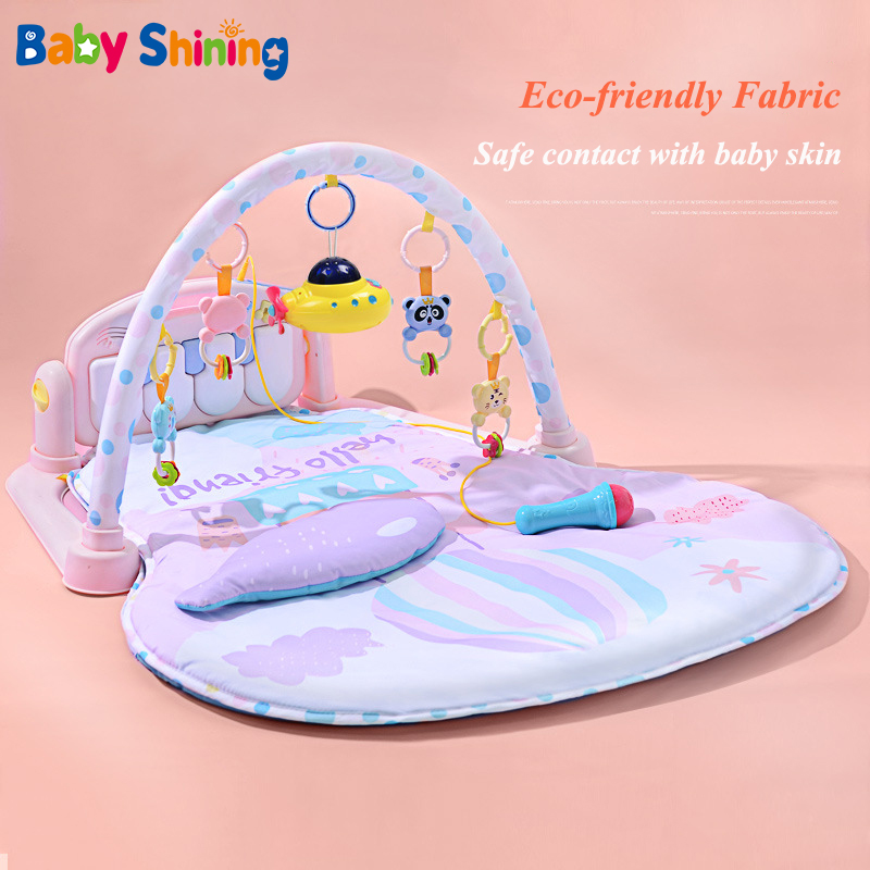 bebe brilhando 0 18 meses de piano do bebe rack de aptidao cobertor jogo do bebe