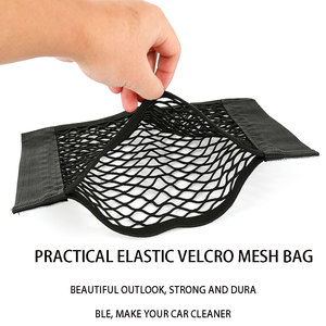 Grid Pocket Holder Car Accessories Trunk Storage Bag Mesh Net Auto Styling Luggage Sticker Interior Organizer Stuff Netting net(China)