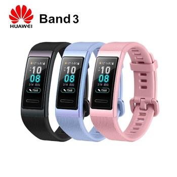 Original HUAWEI Band 3 Smart Wristband Waterproof 5ATM Heart Rate Monitor Pedometer Bracelet Touch Control Sleep Tracker