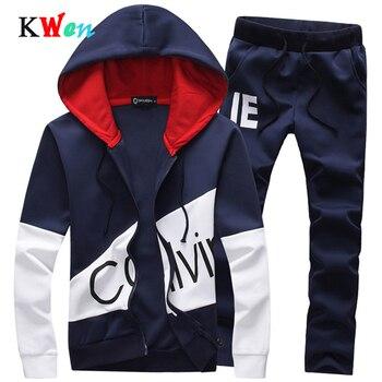 New 5XL Plus size Sets Men's Suits Two Set Sporting Men Warm Hoodies and Long Pants Tracksuit Track Letter Size Sweatsuit Male