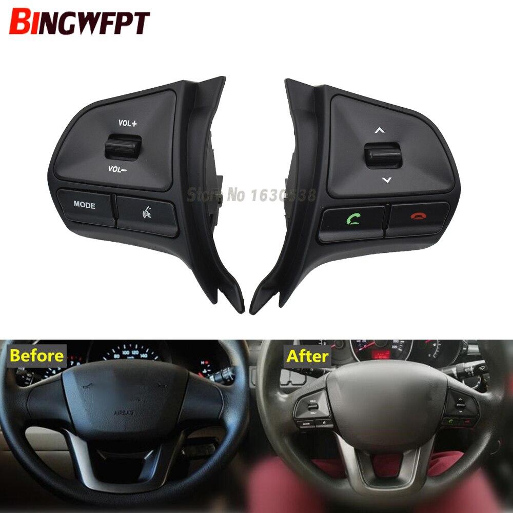 Новая кнопка управления рулевым колесом для KIA K2 RIO 2011-2014 аудио Bluetooth переключатель громкости телефона Сменные автозапчасти