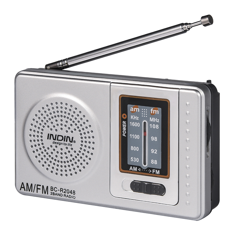 Portable <font><b>Radio</b></font> AM/FM Receiver Universal Pocket <font><b>radio</b></font> <font><b>Built</b></font> <font><b>in</b></font> Speaker Mini Portable Pocket <font><b>Radio</b></font> Telescopic Antenna Receiver image