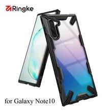 Ringke Fusion X pour Galaxy Note 10 étui Absorption des chocs Transparent dur PC dos souple pour Galaxy Note 10 5G couverture