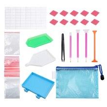 Painting-Tools-Set DIY 70pcs Tweezer Sticky-Pen-Kits Embroider-Box Cross-Stitch Diamond