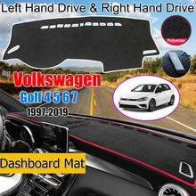 For Volkswagen VW Golf 4 5 6 7 1997-2019 Anti-Slip Mat Dashboard Cover Pad Sunshade Carpet Dashmat Accessories