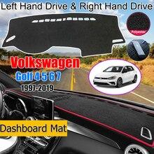 Voor Volkswagen Vw Golf 4 5 6 7 1997 2019 Anti Slip Mat Dashboard Cover Pad Zonnescherm Tapijt dashmat Accessoires