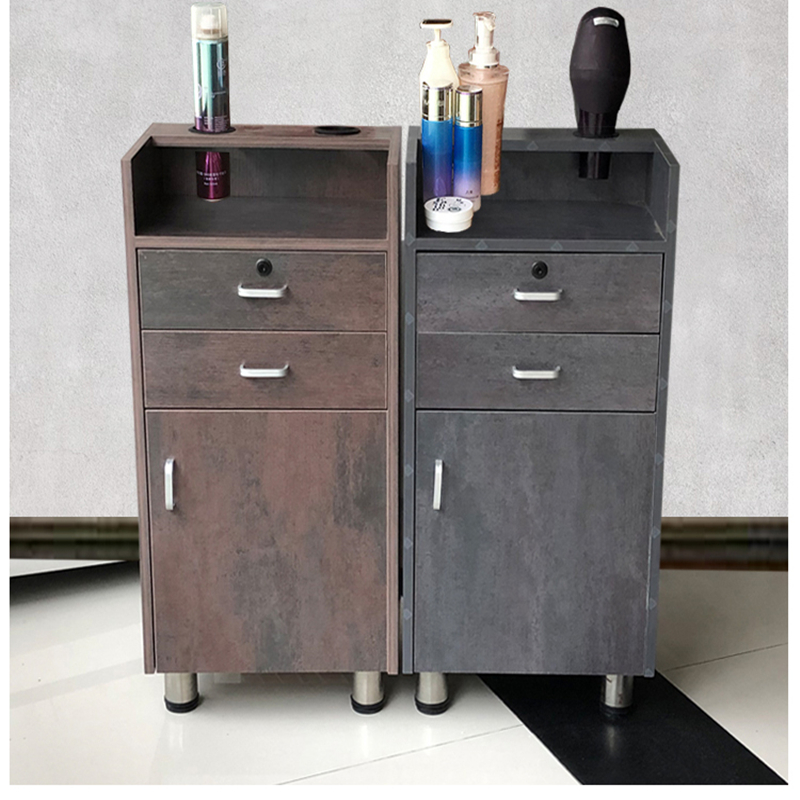 Drawer-type Special Multi-functional Trolley Mirror Table Small Cabinet For Hairdressing Tool Cabinet Hair-building Tool-vehicle