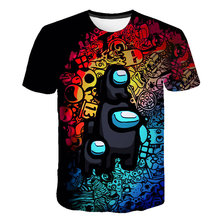 Novo 3d impresso t camisa jogo entre os eua camiseta de manga curta crianças meninos meninas casual topos t roupas da criança das crianças 4t-14t