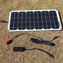 Solar-Panel Diy-Module Outdoor-Connector Semi-Flexible Mono Transparent 10w 5V USB