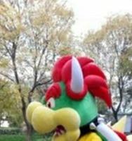2019 Cute Halloween Bowser Monster Mascot Custom Fancy Anime Cosplay Kits ONLY HEAD Cosplay Unisex Hallowen Gift