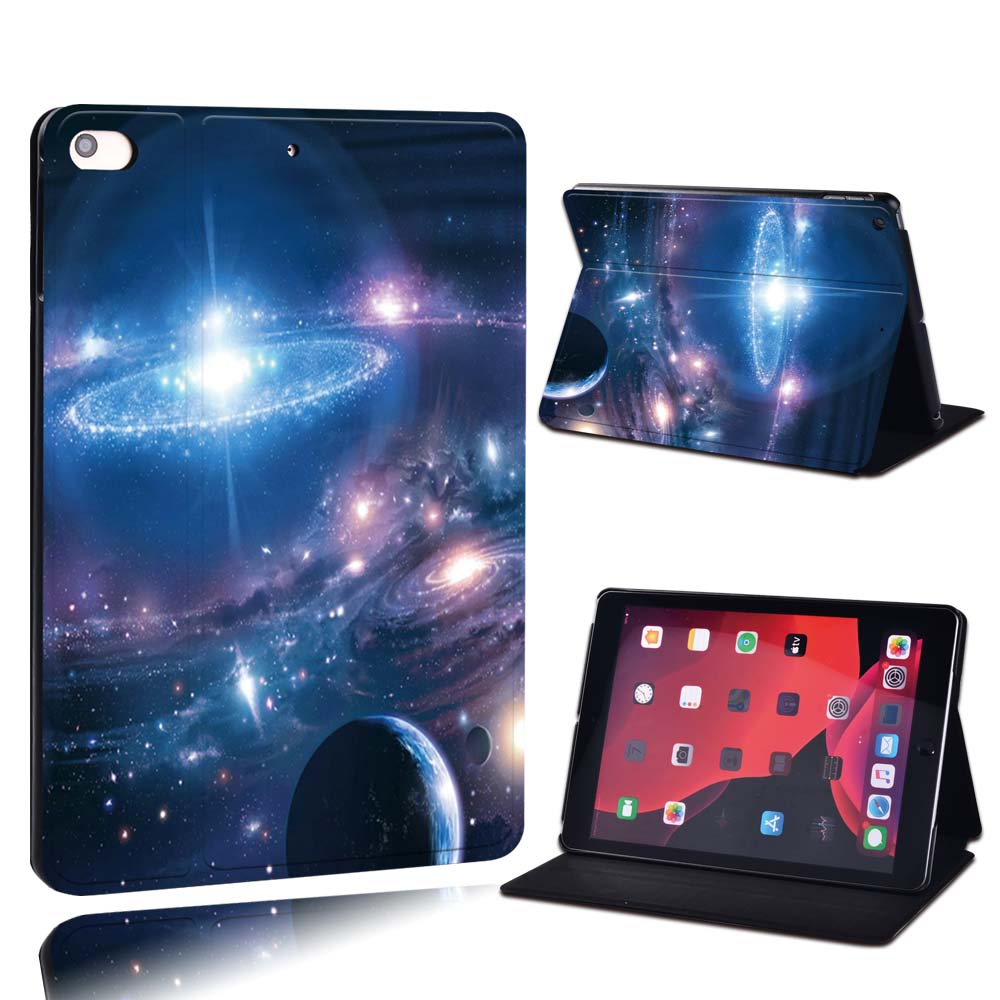 17.fantasy planets Navy Blue For Apple iPad 8 10 2 2020 8th 8 Generation A2428 A2429 PU Leather Tablet Stand