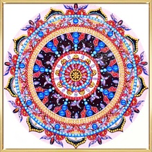 New Style 5D DIY Diamond Painting Pink Mandala Diamond Embroidery Round Shinny Beads Picture Of Rhinestone Painting LN144