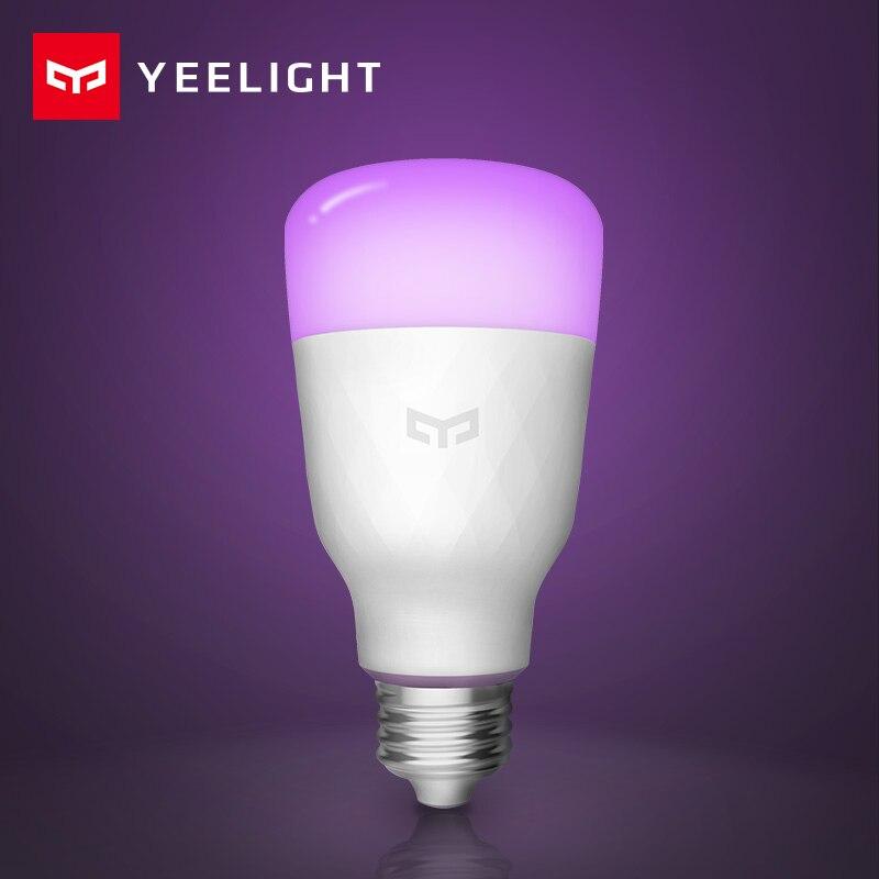 [ English Version ] Yeelight Smart LED Bulb Colorful 800 Lumens 10W E27 Lemon Smart Lamp For Mi Home App White/RGB Option(China)