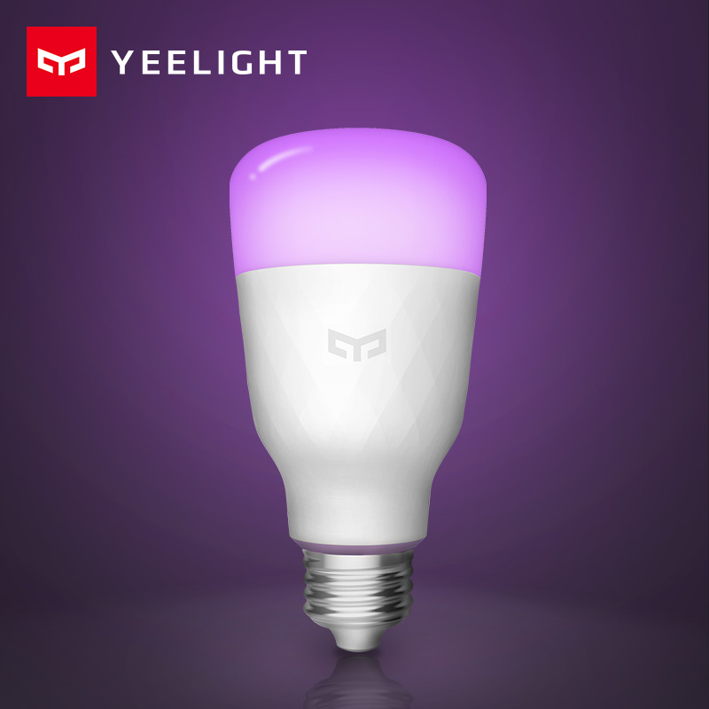 [ English Version ] Yeelight Smart LED Bulb Colorful 800 Lumens 10W E27 Lemon Smart Lamp For Mi Home App White/RGB Option title=
