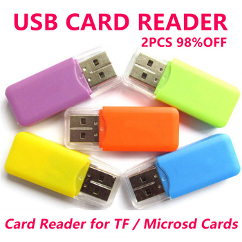 цена на USB Card Reader for TF card in card readers for microsd & micro sd card with SD adapter to choose C-1 free shipping Card Reader