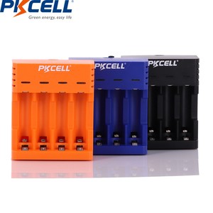 Image 1 - PKCELL Battery Charger for AA/AAA Rechargeable Batteries 1.2v NiCd NiMh Battery charger with 4Slots LCD Display Usb Cable