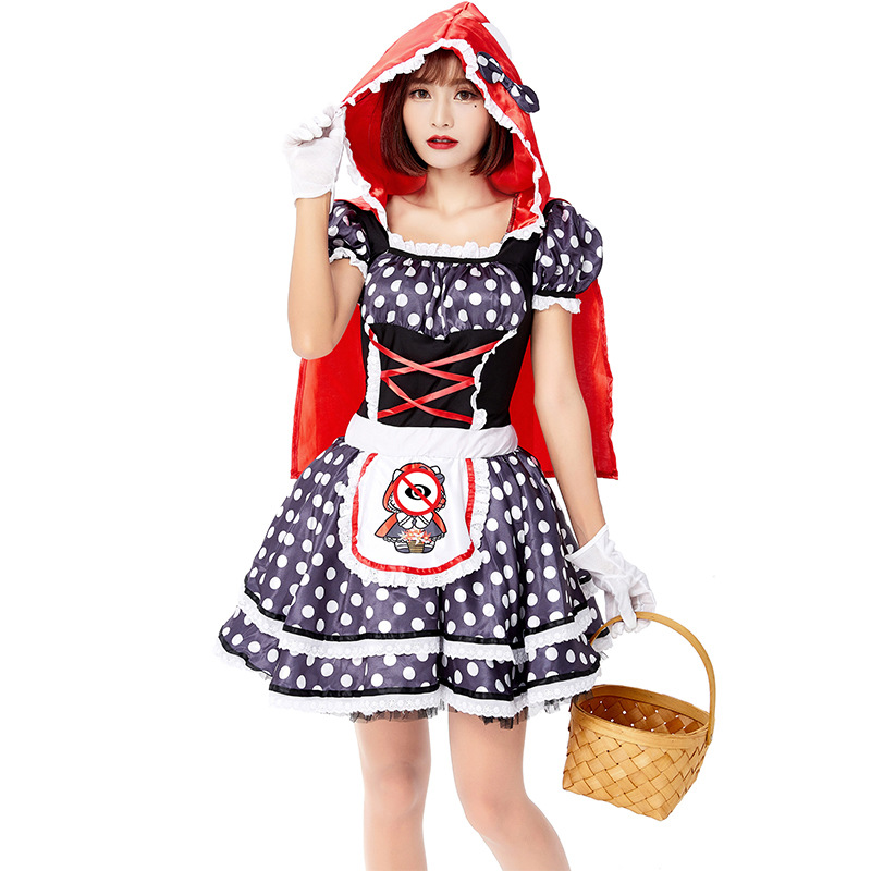 Adult Little Red Riding Hood Costume Halloween Costume For Women Party Dress Up