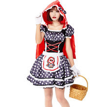 Adult Little Red Riding Hood Costume Halloween For Women Party Dress Up