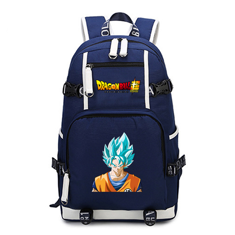 Anime Dragon Ball Z Super Saiyan Schoolbag Canvas Backpack Travelling Laptop Bag