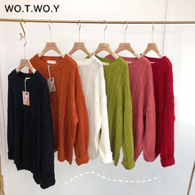 Knitted O-neck Twist Sweater RK