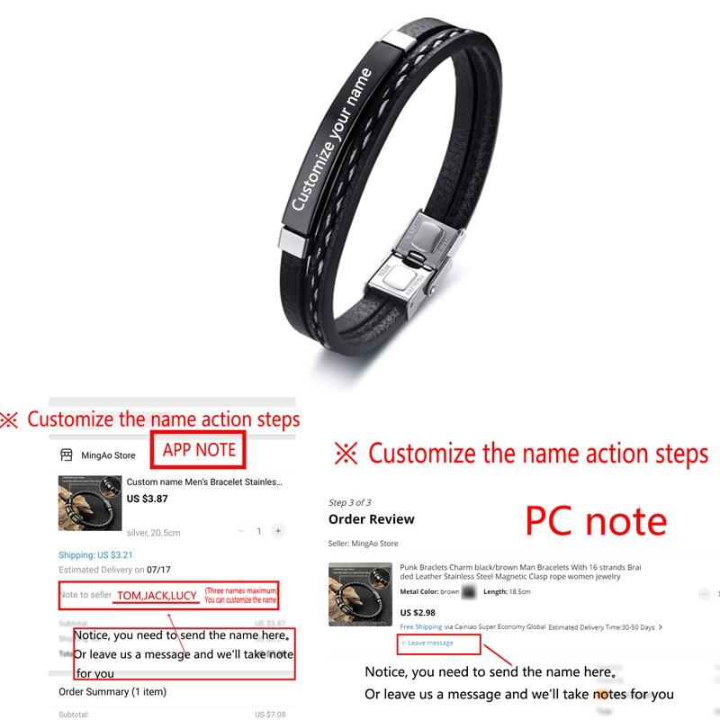 Bracelet en acier inoxydable pour hommes et femmes d'affaires, breloque avec nom personnalisé, bracelet cubain à longueur ajustable, cadeau pour garçon et femme 4