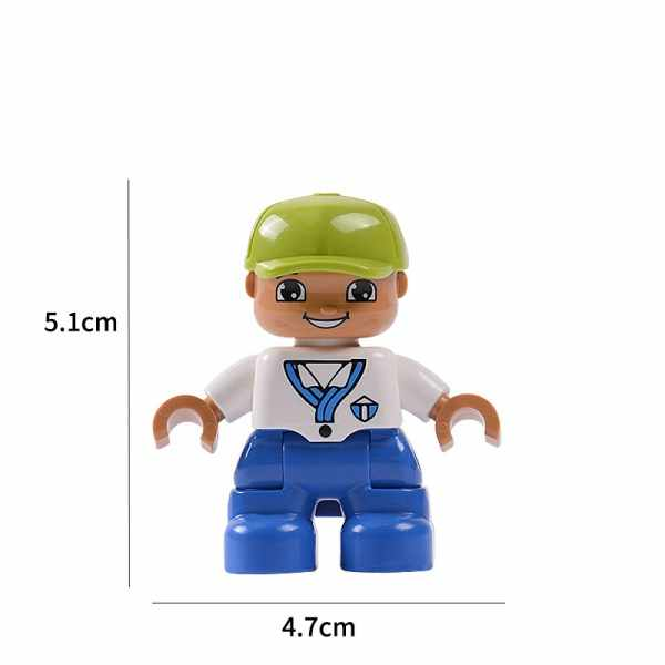 Large Size Blocks Action Figure Compatible With Legoingly Duplo Family Figures Animal Train Building Blocks Education Toys Gifts