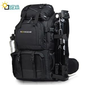 Image 1 - NOVAGEAR 80302  double shoulder camera bag waterproof shockproof outdoor large capacity SLR camera bag put 17 inch laptop