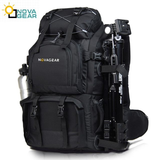 NOVAGEAR 80302  double shoulder camera bag waterproof shockproof outdoor large capacity SLR camera bag put 17 inch laptop